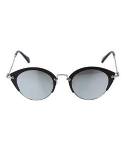 Óculos de sol preto e espelhado cinza Gea