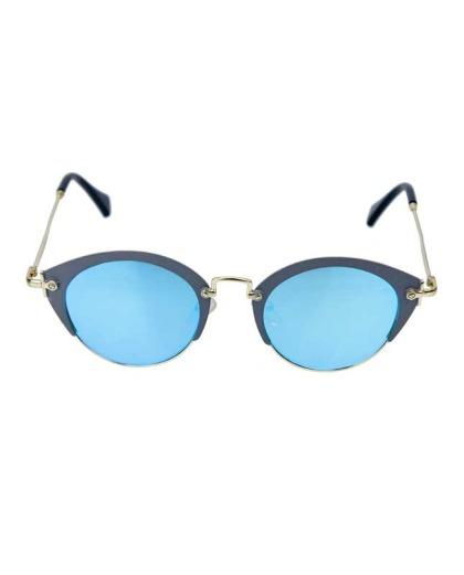 Óculos de sol cinza e espelhado azul Gea