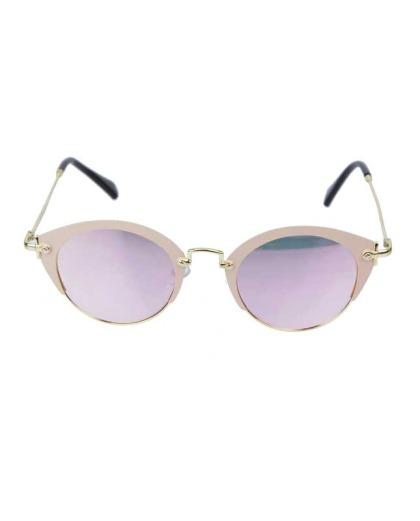 Óculos de sol dourado, rosa e espelhado rosa Gea