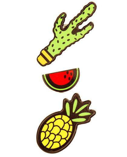 Kit 3 Pins Cactus, melancia e Abacaxi