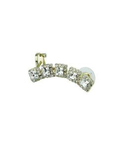 Ear cuff dourado com strass cristal Sona