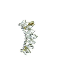 Ear cuff dourado com strass cristal Akali