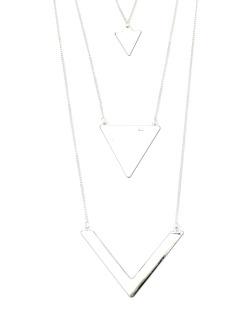 Colar prateado triângulos Dickinson