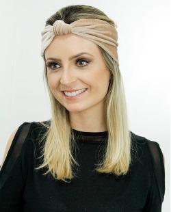 Headband de veludo marrom Lille