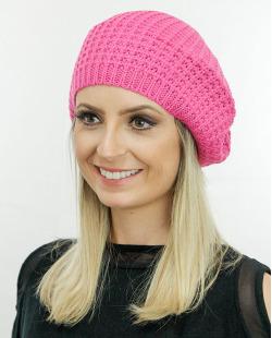 Gorro Beanie tricô rosa Oise
