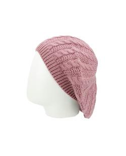 Gorro Beanie tricô rosa envelhecido Douai
