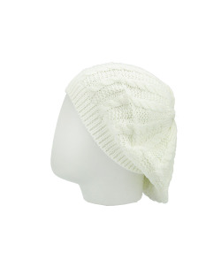 Gorro Beanie tricô branco Douai