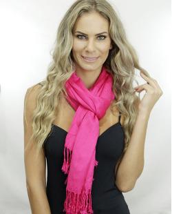 Lenço rosa pink Silvia