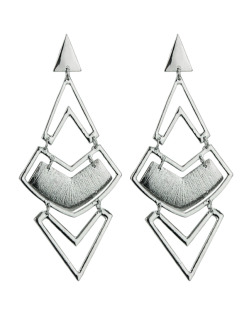 Maxi brinco de metal grafite Osiris
