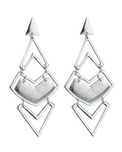 Maxi brinco de metal prateado Osiris