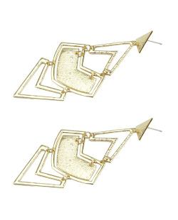 Maxi brinco de metal dourado Osiris