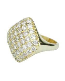 Anél dourado com strass cristal Eteía