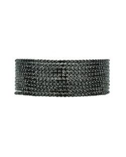 Kit 10 pulseiras grafite com strass preto Maras