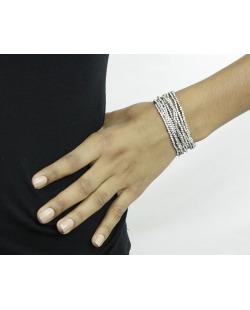 Kit 10 pulseiras grafite com strass cristal Maras