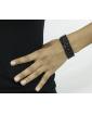 Kit 5 pulseiras grafite com strass preto Chivay