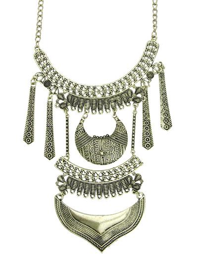 Maxi colar de metal dourado Ardee