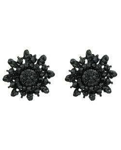 Brinco pequeno preto com strass preto Estremoz