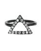 Anel de falange preto com strass cristal Surat