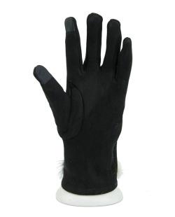 Luva de algodão preta com pompom Dhanbad