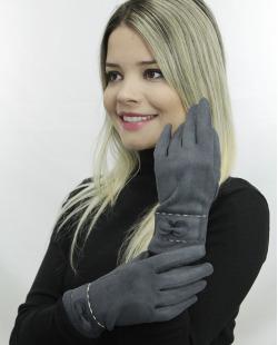 Luva de algodão cinza com top Deshnoke
