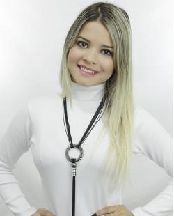 Maxi colar preto e grafite com strass Borås