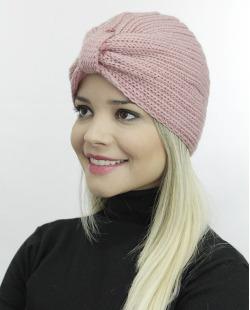 Gorro tricô rosa Paine
