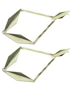 Maxi brinco de metal folheado dourado Benguela