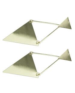Maxi brinco de metal dourado Ambriz