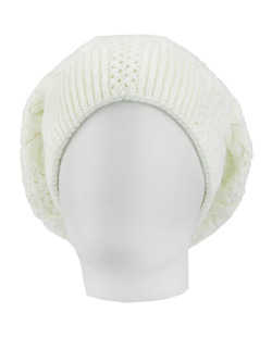 Gorro tricô branco Uíge