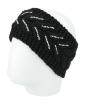 Gorro vazado tricô preto com strass Ucuma