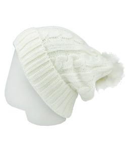 Gorro Beanie tricô branco Louis
