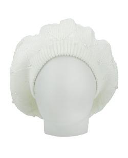 Gorro Beanie tricô com pérolas branco Brits