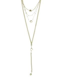 Kit de colar metal dourado estrelas Bow