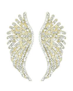 Brinco pequeno dourado e strass cristal Angel