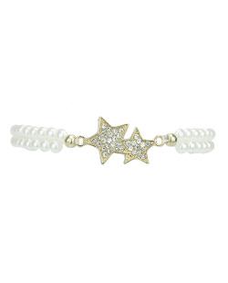 Pulseira branca com estrela Sirte