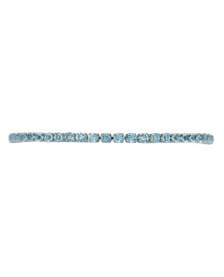 Pulseira prateada com strass azul-turquesa Sófia