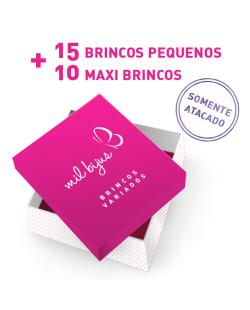 KIT COM 25 PARES DE BRINCOS VARIADOS