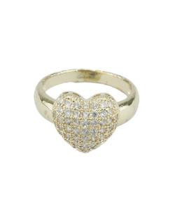 Anel de metal dourado com strass cristal Pomorie
