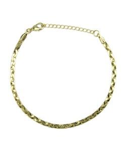 Pulseira de metal folheado dourada Baden