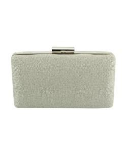 Bolsa de mão clutch de tecido palha areia Derby