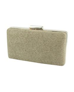 Bolsa de mão clutch de tecido palha marrom Tune