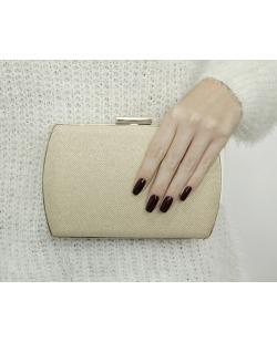 Bolsa de mão clutch de tecido palha bege Locarmo