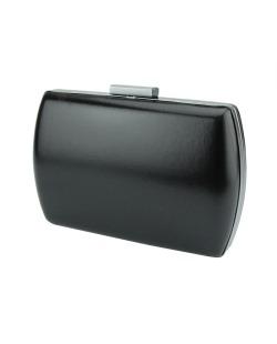 Bolsa de mão clutch de couro sintético preto Salt