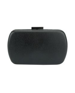 Bolsa de mão clutch de couro sintético preto Wete