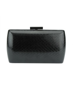 Bolsa de mão clutch de couro sintético preto Nungwi