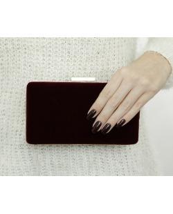 Bolsa de mão clutch de couro sintético Bordô Pangani