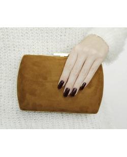 Bolsa de mão clutch de couro sintético caramelo District