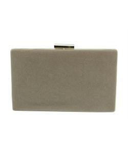 Bolsa de mão clutch de couro sintético marrom claro Uroa
