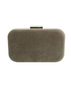 Bolsa de mão clutch de couro sintético marrom Tabora