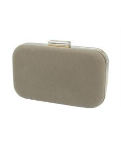 Bolsa de mão clutch de couro sintético marrom claro Pingwe